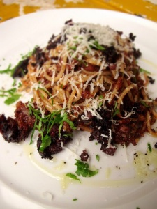Black Pudding Pasta: Black Pud'tanesca