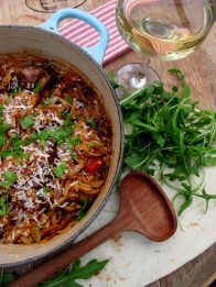 One-Pot Lamb with Orzo