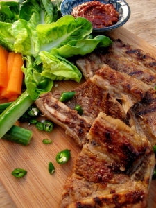 Beef Galbi (Korean Barbequed Beef Ribs) 소갈비