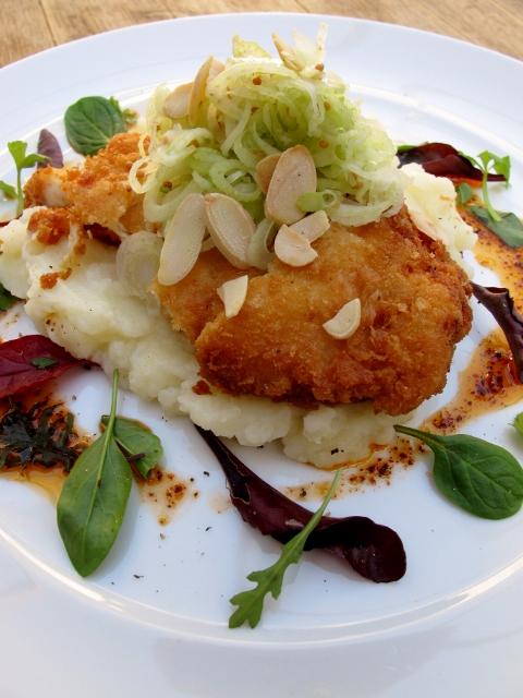 Chicken Katsu with Warm Fennel Salad and Sichuan Chilli Oil
