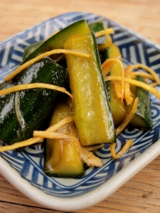 Quick Cucumber and Ginger Pickle