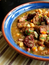 Spanish Pork, Chickpea & Black Pudding Stew