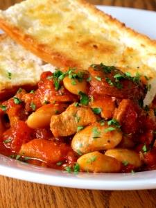 Spanish Pork Casserole with Chorizo & Butter Beans