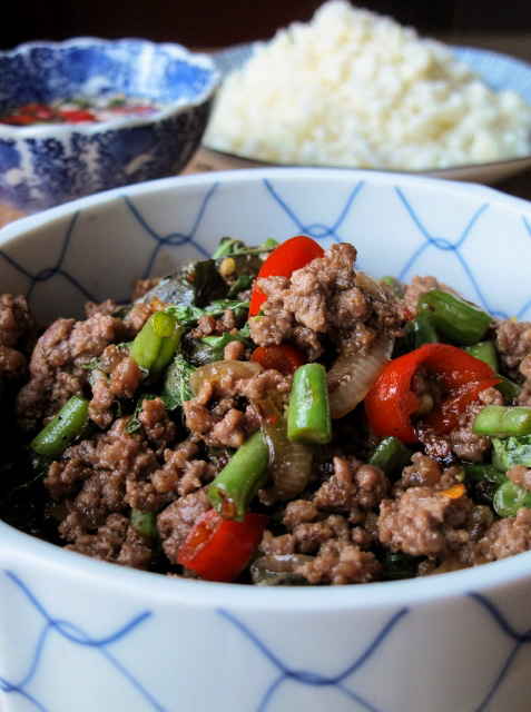 Phat kaphrao thai beef mince with basil chilli the muddled phat kaphrao thai beef mince with basil chilli forumfinder Image collections